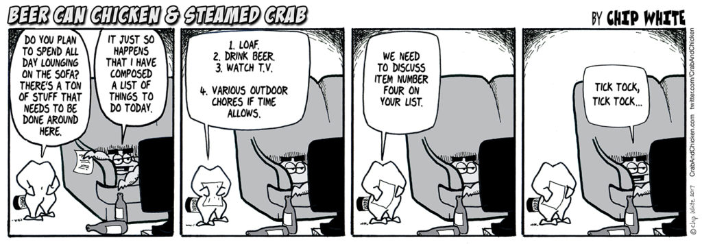 #110 – Loaf, Drink Beer and Watch TV
